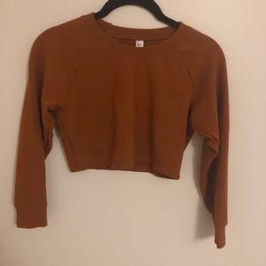 NWOT Junior's Crop Pullover Sweater